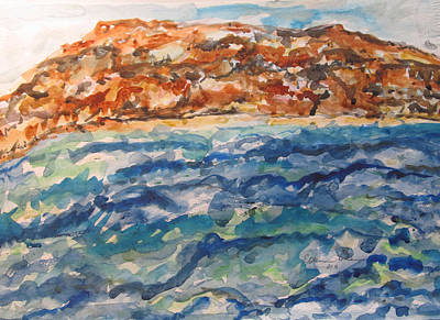 Dead Sea Reflections Art Print by Esther Newman-Cohen