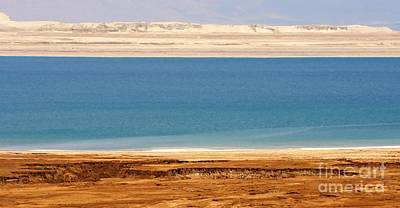 Photograph - Dead Sea Shoreline In Jordan by David Birchall