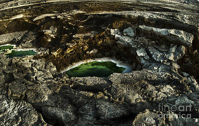 Sink Hole Photograph - Dead Sea Sink Holes by Dan Yeger
