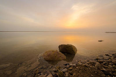 Photograph - Dead Sea Sunrise by David Morefield