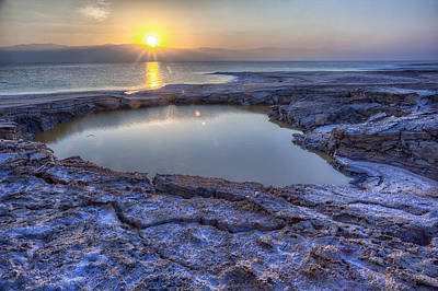 Photograph - Dead Sea Sunrise by Uri Baruch