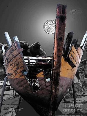 Caribe Digital Art - Dead Ship 9 by Gustavo Mazzoni