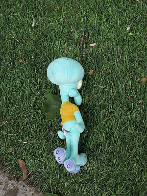 Digital Art - dead Squidward by Zac AlleyWalker Lowing