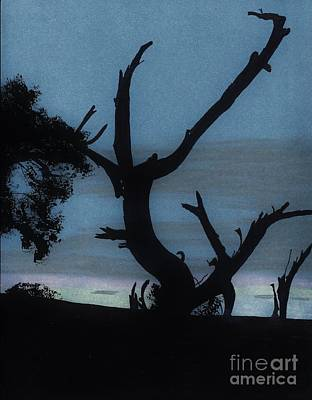 Nature Drawing - Sunrise - Silhouette by D Hackett
