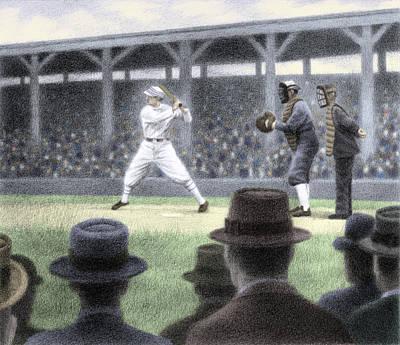 Baseball Drawing - Deadball Days by Steve Dininno