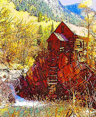 Digital Art - Deadhorse Mill by Dan Miller