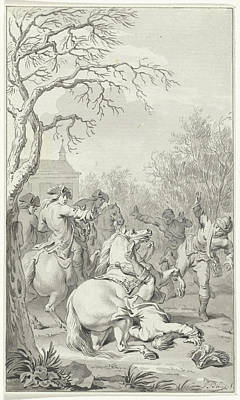 Deadly Drawing - Deadly Fall Of William IIi Off His Horse by Quint Lox