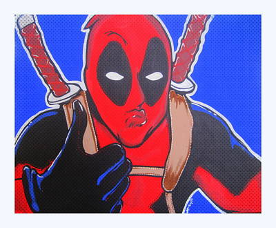 Painting - Deadpool Duckface Selfie by Gary Niles