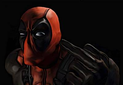 Painting - Deadpool by Jeff DOttavio