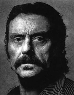 Alma Drawing - Deadwood - Al Swearengen by Justin Clark