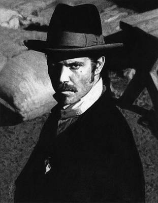 Alma Drawing - Deadwood - Seth Bullock by Justin Clark