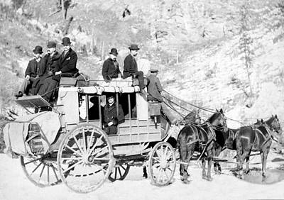Deadwood Stagecoach, 1889 Art Print