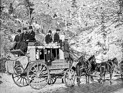 Wells Fargo Stagecoach Photograph - Deadwood Stagecoach In Winter 1889 by Daniel Hagerman