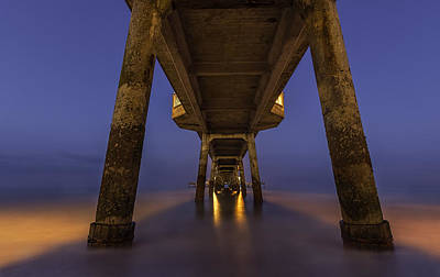 Deal Pier At Night Art Print