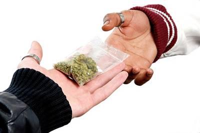 Dealing In Cannabis Art Print