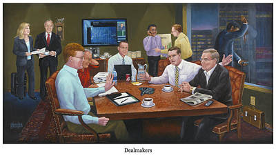 Negotiating Painting - Dealmakers by Ten Doves Charity