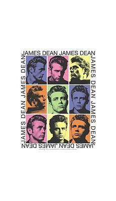 James Dean Digital Art - Dean - James Color Block by Brand A