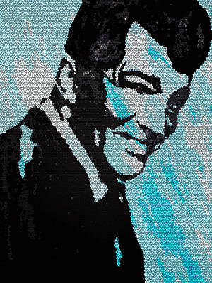 Painting - Dean Martin In Stained Glass by Robert Margetts