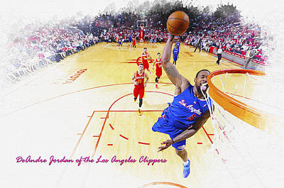 Deandre Jordan Of The Los Angeles Clippers Original by Don Kuing
