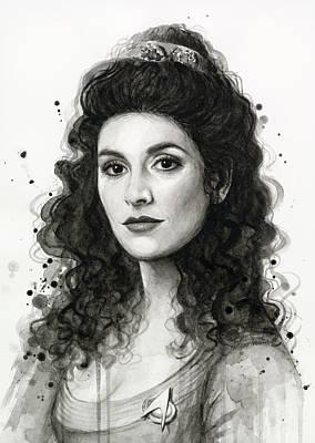 Deanna Troi - Star Trek Fan Art Original by Olga Shvartsur