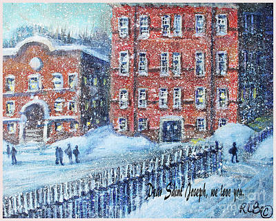 Waltham Painting - Dear Saint Joseph by Rita Brown