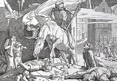 Destruction Drawing - Death As Victor by Alfred Rethel