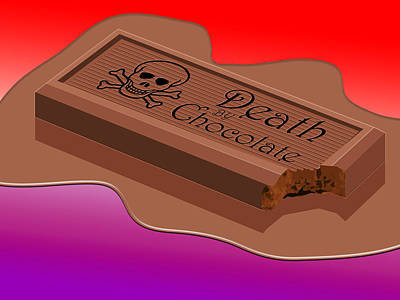 Death Wall Art - Digital Art - Death By Chocolate by Greg Joens