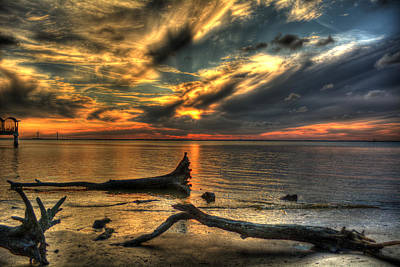 Death By Tide Art Print by Greg and Chrystal Mimbs
