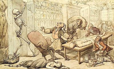 Death In The Dissecting Room, 1816 Art Print