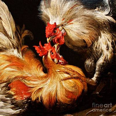 Painting - Death In The Poultry Market by Pg Reproductions