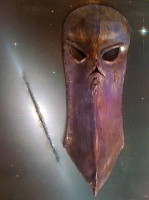 Ceramic Mixed Media - Death Mask by Ty Walsh Trez