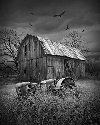 Death Of A Midwest Farm Art Print by Randall Nyhof