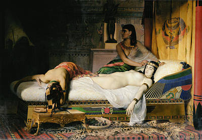 Bed Photograph - Death Of Cleopatra by Jean-Andre Rixens