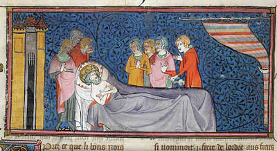 Ou Photograph - Death Of King Louis Ix by British Library