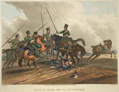 Death Of Major Gen. Ponsonby Art Print by British Library