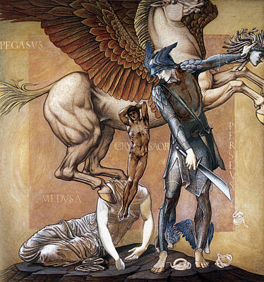 Death Of Medusa Art Print by Edward Burne Jones