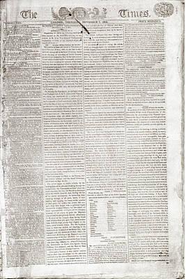 Death Of Nelson Dispatch Art Print