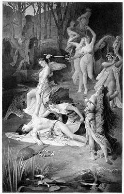 Orpheus Painting - Death Of Orpheus by Granger
