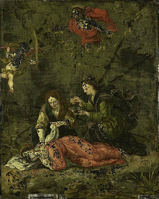 Death Of Saint Cecilia, Anonymous Print by Litz Collection