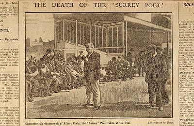 Surrey Photograph - Death Of The Surrey Poet by British Library