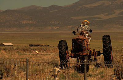 Photograph - Death On A Tractor by Dyle   Warren