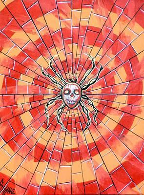 Artgrinder Painting - Death Spider by Sam Hane