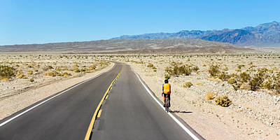 Photograph - Death Valley Biking by Lutz Baar