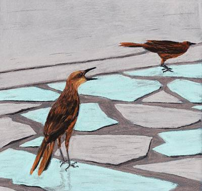 Death Valley Painting - Death Valley Birds by Anastasiya Malakhova