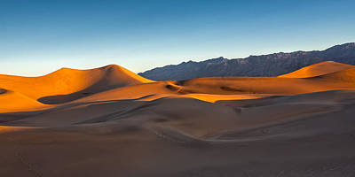 Widescreen Photograph - Death Valley Dunes by Peter Tellone