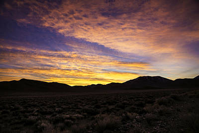 Death Valley Photograph - Death Valley Emigrant Pass Sunrise by John Aydelotte