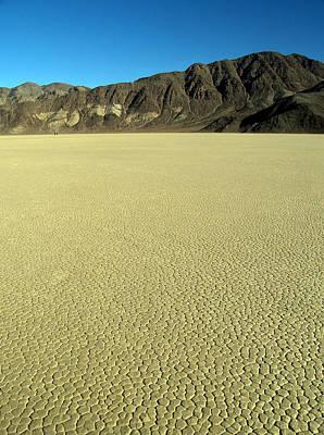 Death Valley Np Playa Moving Rocks 06 Art Print by Jeff Brunton