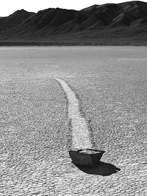 Photograph - Death Valley Np Playa-racing Rocks 10 by Jeff Brunton