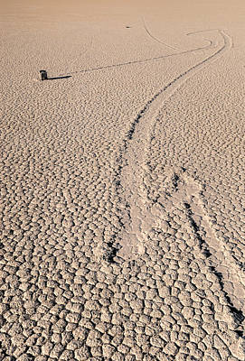 Slide Photograph - Death Valley Racetrack California by Steve Gadomski