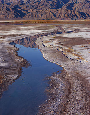 Photograph - Death Valley Salt Stream 1 by Tom Daniel